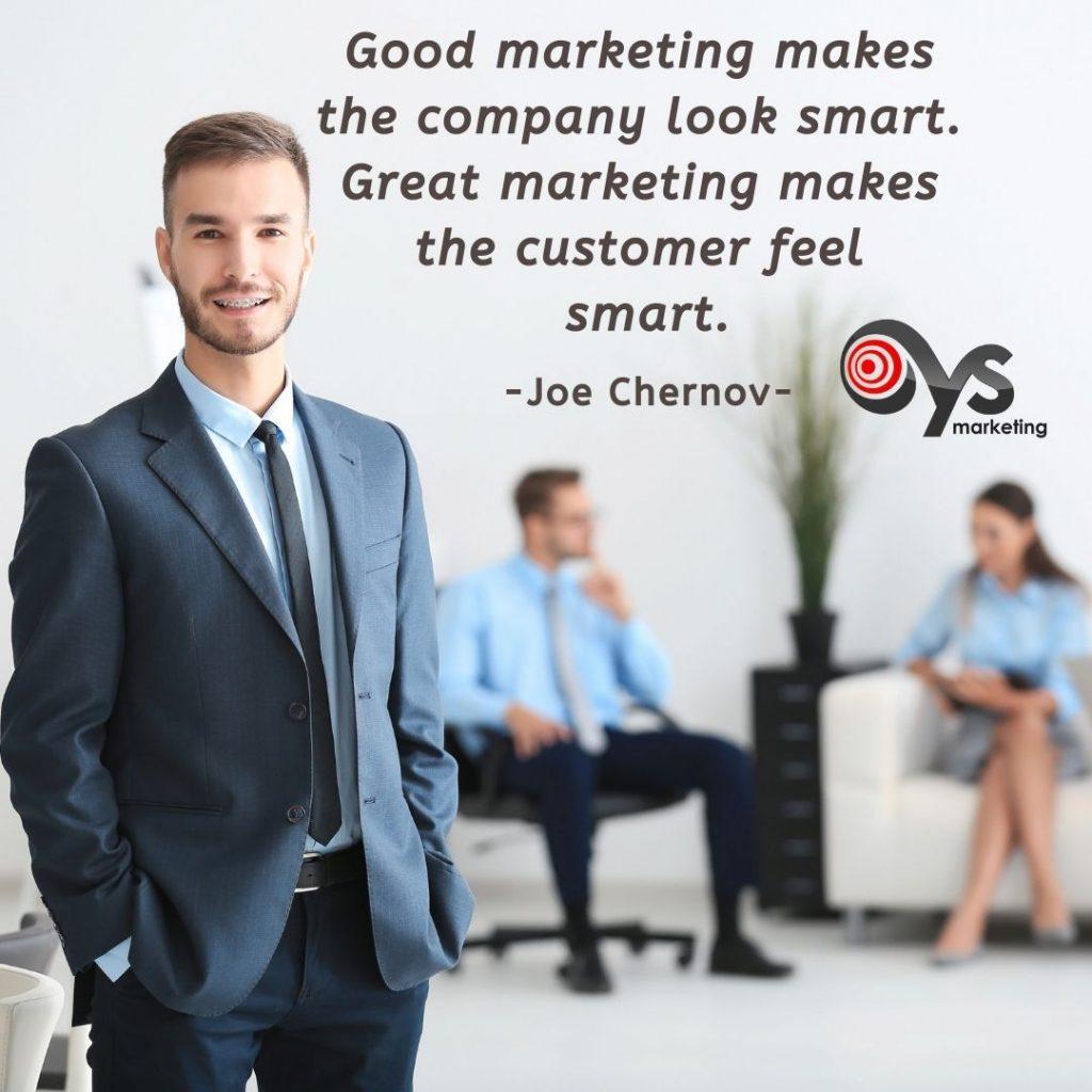 Good marketing quote by a Digital Marketing Agency